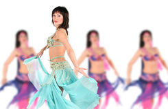 Bellydancer with group girls Stock Image