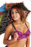 Bellydancer with Parasol stock photography