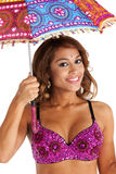 Bellydancer with Parasol royalty free stock photos