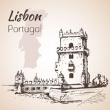 Belém Tower or the Tower of St Vincent. Lisbon. Portugal Royalty Free Stock Photography