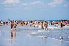 Belmar Beach Day Royalty Free Stock Photo