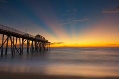 Belmar Fishing Pier sunrise Royalty Free Stock Photo