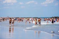 Belmar stranddag Royaltyfri Foto