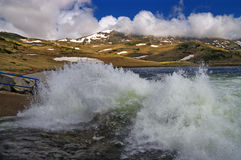Belmeken水坝和现象告诉了Butterflies 图库摄影