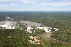 Iguazu Falls and Belmond Hotel das Cataratas Royalty Free Stock Photo