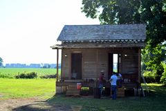 Belmont antebellum plantation sharecropper shack remodeling royalty free stock photo