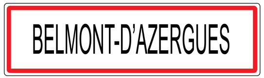 Belmont d Azergues city traffic sign illustration in France Royalty Free Stock Photo