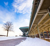 Belmont Grandstand in Winter Stock Photography