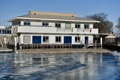 Belmont Harbor Clubhouse Stock Photography