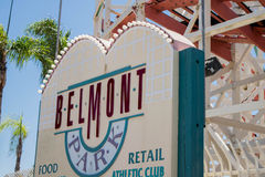 Belmont Park- Roller coaster and park near San Diego, California Stock Photos
