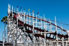 Belmont- Park` s ikonenhafte riesige Schöpflöffel-Achterbahn Stockbild