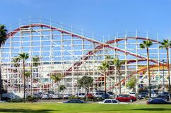 Belmont Park, San Diego, CA. The Belmont amusement Park in Bonita cove park in southern Mission Bay over the Pacific beach in San Diego, California in the United royalty free stock photos