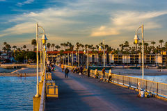 The Belmont Pier in Long Beach  Stock Image
