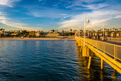 The Belmont Pier in Long Beach  Royalty Free Stock Photography
