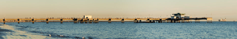 Belmont Shores Pier Long Beach Sunset Panoramic Royalty Free Stock Image