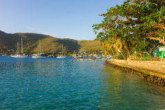 The belmont walkway on bequia in the grenadines Stock Photography