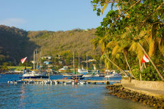 The belmont walkway on bequia in the grenadines Royalty Free Stock Image