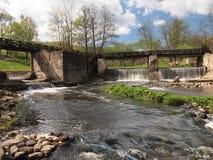 Belmontas waterfalls (Vilnius, Lithuania) Royalty Free Stock Photos