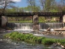 Belmontas waterfalls (Vilnius, Lithuania) Stock Photos