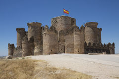 Belmonte城堡- La Mancha -西班牙 库存图片