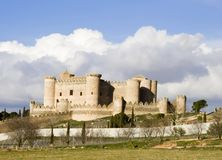 belmonte castillo de landscape 库存照片