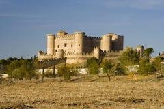 belmonte castillo de landscape 免版税图库摄影