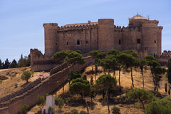 Belmonte Castle. Located in the province of cuenca (spain), was constructed for the first Marquess of the Marquesado of Villena. Was used by the french as a jail Royalty Free Stock Photos