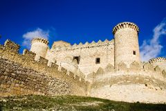 Belmonte Castle. (Castillo de Belmonte) in Belmonte, Cuenca province, Castilla La Mancha, Spain.  Located approximately 150km southeast of Madrid, this fortress Royalty Free Stock Photography