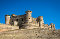 Belmonte castle, Castilla la Mancha, Spain Royalty Free Stock Photo