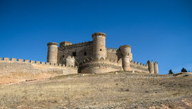 Belmonte castle, Castilla la Mancha, Spain Royalty Free Stock Photos
