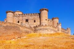 Belmonte castle. In Belmonte.  Cuenca, Spain Royalty Free Stock Photography