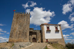 Belmonte castle. Historic village of Portugal, near Covilha Royalty Free Stock Photos