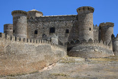 Belmonte Castle - La Mancha - Spain. The ruins of Belmonte Castle in the La Mancha region of central Spain Royalty Free Stock Photography