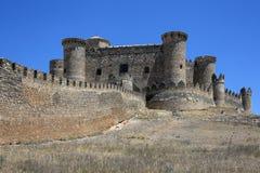 Belmonte Castle - La Mancha - Spain. The riuns of Belmonte Castle in the La Mancha region of central Spain Royalty Free Stock Image