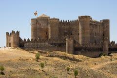 Belmonte Castle - La Mancha - Spain. The riuns of Belmonte Castle in the La Mancha region of central Spain Stock Image