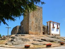 Belmonte castle. Old medieval Belmonte castle in Portugal Stock Photography