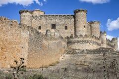 Belmonte Castle, Spain. Picturesque hill castle, Belmonte, Cuenca (Castile-La Mancha), Spain Royalty Free Stock Photos