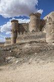 Belmonte Castle, Spain. Picturesque hill castle, Belmonte, Cuenca (Castile-La Mancha), Spain Stock Photo