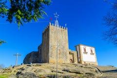 The Belmonte castle. View of the Belmonte castle, in Belmonte, Castelo Branco, Portugal Royalty Free Stock Photography