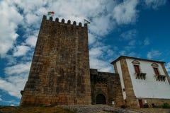 Belmonte Kasteel, Belmonte, Portugal, geboorteplaats van de 16de eeuw Portugese ontdekkingsreiziger van Nieuwe Wereld, Pedro Alva Stock Fotografie