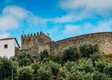 Belmonte Kasteel, Belmonte, Portugal, geboorteplaats van de 16de eeuw Portugese ontdekkingsreiziger van Nieuwe Wereld, Pedro Alva Royalty-vrije Stock Foto's