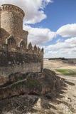 Belmonte slott, Spanien Arkivbild