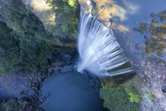Belmore Water Falls, New South Wales. Cascading Water on Rocks and Pond. stock photography