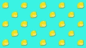 Belo fundo de desenho abstrato com grande número de imagens animadas de limão Animação Belo desenho ilustração royalty free