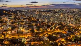 Belo Horizonte após o por do sol, Minas Gerais, Brasil Imagens de Stock