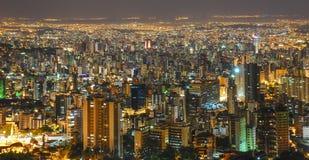 Belo Horizonte bis zum Nacht Lizenzfreie Stockfotos