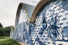 Modernist church of Sao Francisco de Assis in Belo Horizonte, Brazil. Belo Horizonte, Brazil - Dec 26, 2017: Modernist church of Sao Francisco de Assis by Oscar royalty free stock photos