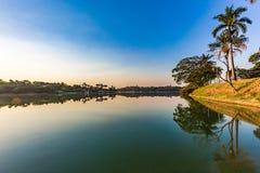 Belo Horizonte Minas Gerais, Brasilien Sikt av Pampulha sjön i a royaltyfria foton