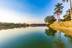 Belo Horizonte Minas Gerais, Brasilien Sikt av Pampulha sjön i a arkivbilder