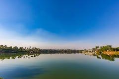 Belo Horizonte Minas Gerais, Brasilien Sikt av Pampulha sjön i a fotografering för bildbyråer